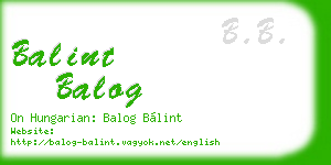 balint balog business card